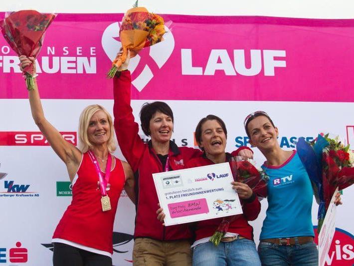 Die glücklichen Gewinner des 4. Bodensee Frauenlauf.