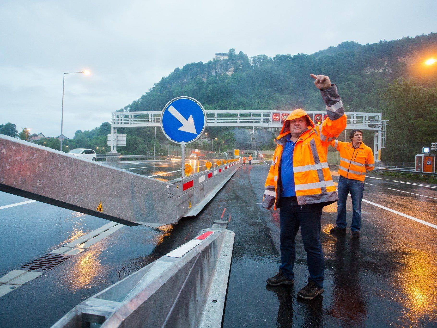 Die zweite Röhre des Pfändertunnels wurde für den Verkehr freigegeben.