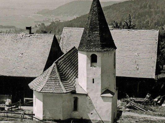Wendelin-Kapelle in frühen Jahren.