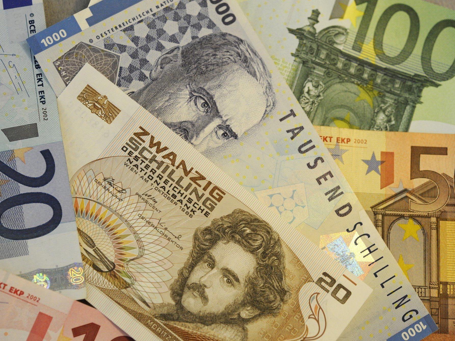 Elf Jahre nach der Euro-Einführung sind immer noch 8,8 Milliarden Schilling im Umlauf.
