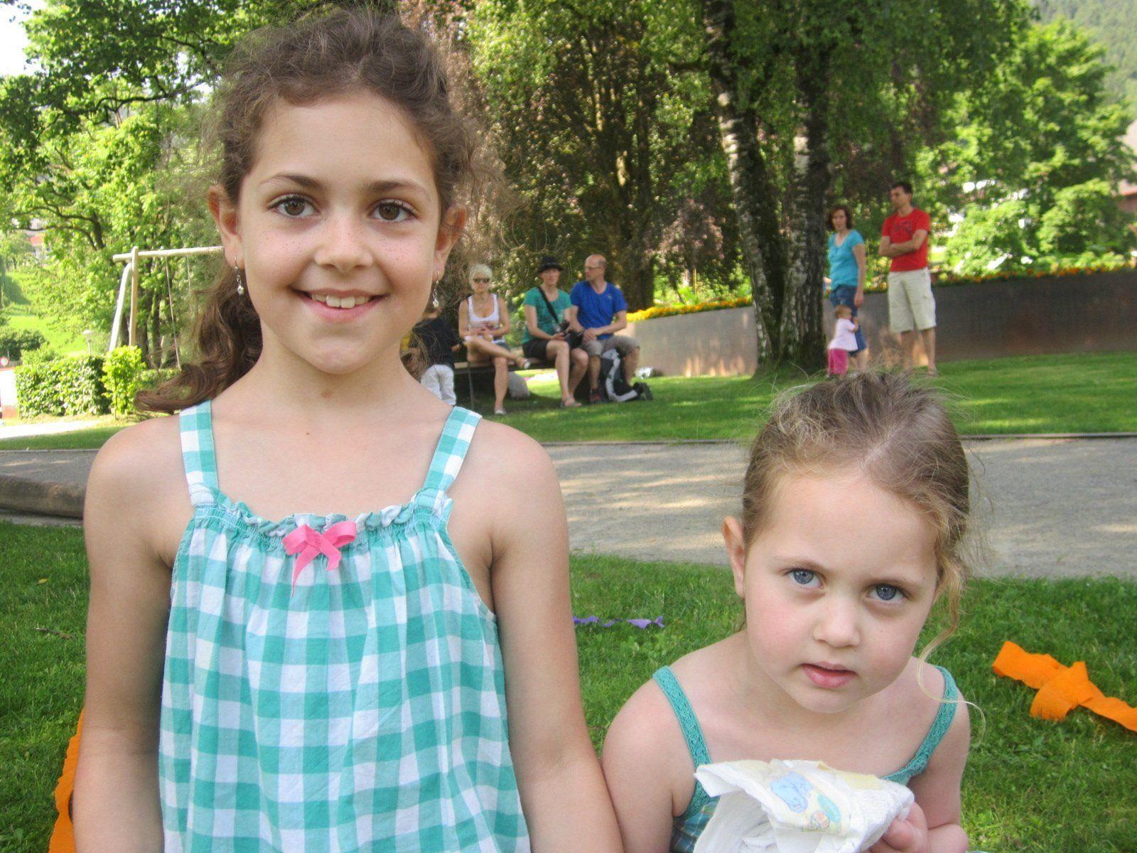 Emelie war mit ihrer Schwester Julia beim ersten Spieleland-Dienstag dabei