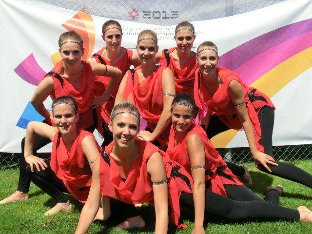 Höchstnote für die acht Frauen der TS Röthis beim Turnfest in Biel.
