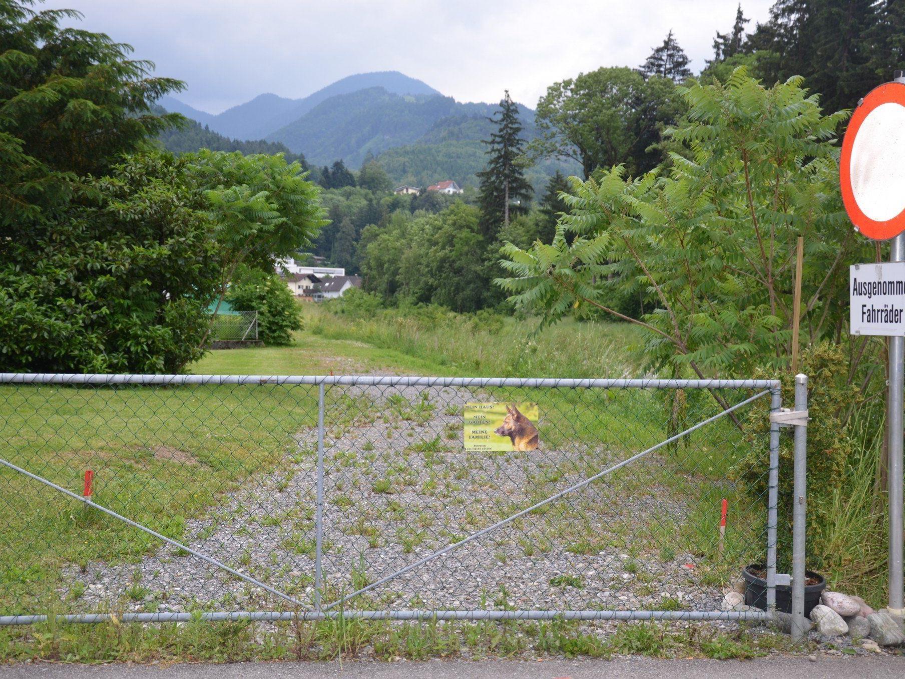 Dieser Zaun soll nun durch einen neuen mit Gehtüre ersetzt werden.