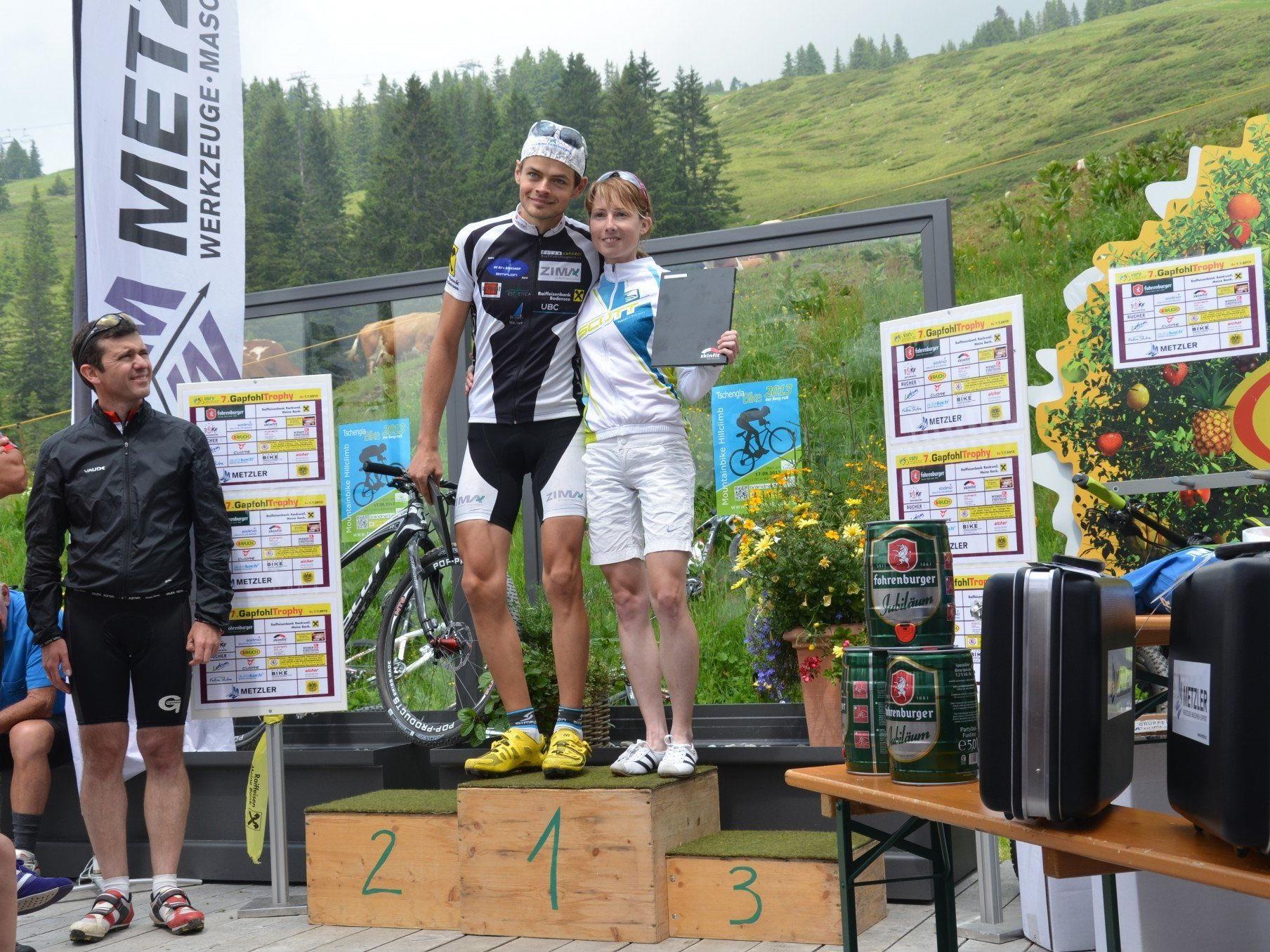 Patrizia Wacker und Manuel Hofer siegten mit neuem Streckenrekord
