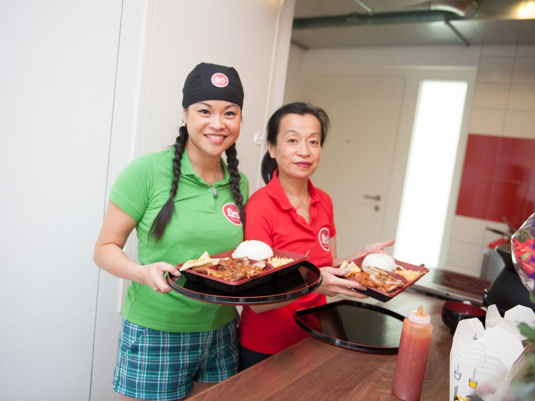 In Lin's Asia Küche gibt's auch frisch zubereitete Bentoboxen.