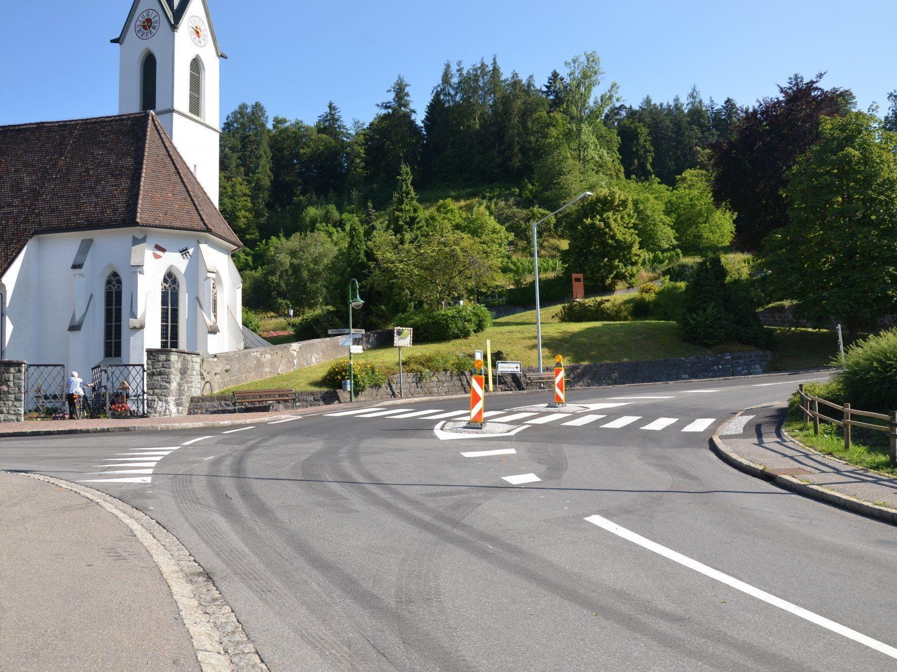 Die Neugestalltung der Fussgängerquerungen sorgen für mehr Verkehrssicherheit.