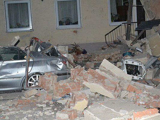 Ein verheerender Anblick bot sich nach der Explosion in Eggendorf