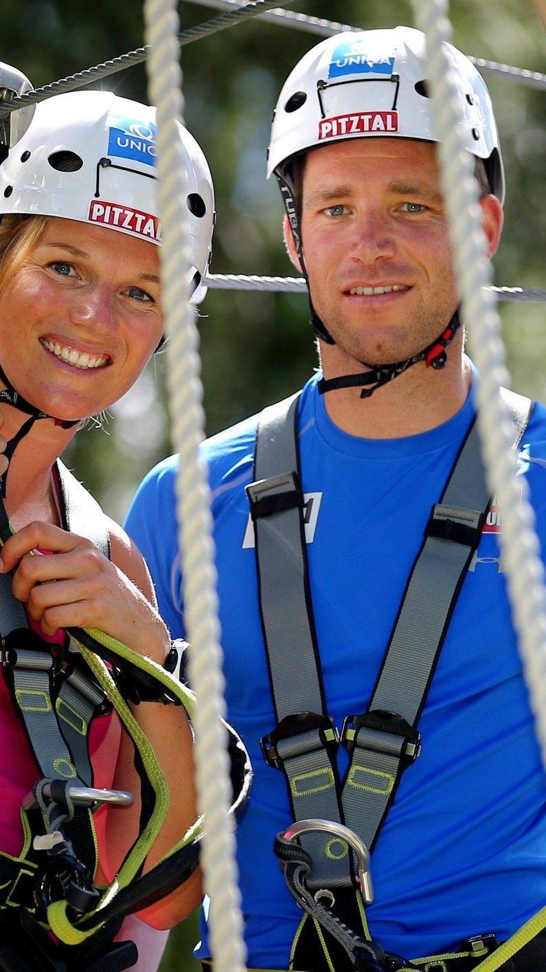 Benni Raich und Marlies Schild absolvieren derzeit ihr Sommertraining, bevor sie in ein paar Wochen wieder auf den Skiern stehen.