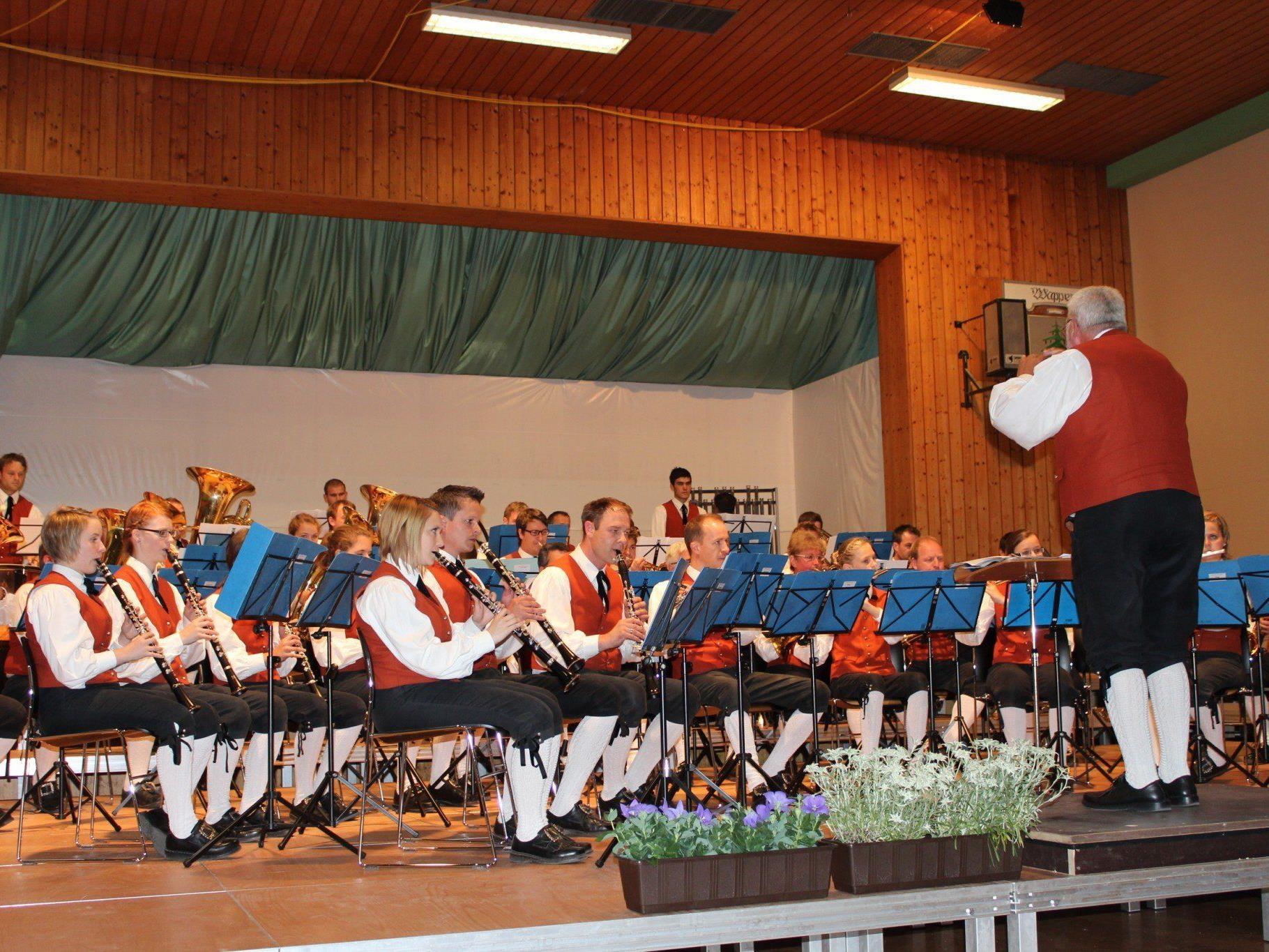Der Bürgermusikverein Sulzberg beim Konzertwettbewerb.
