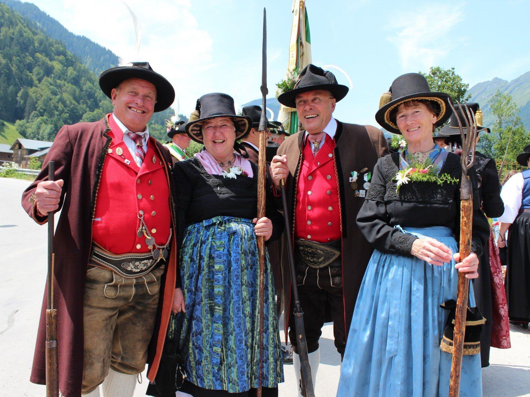 Eine Trachtengruppe aus Kitzbühel.