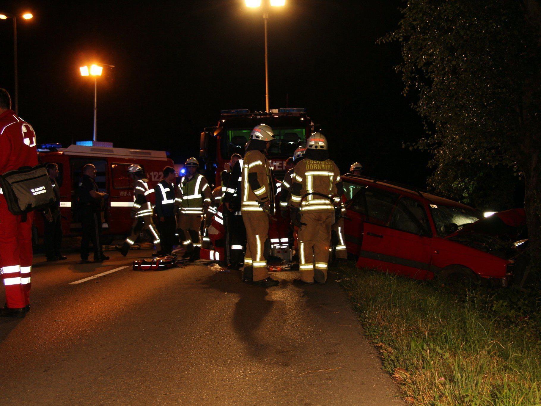 Ein schwerer Verkehrsunfall ereignete sich in Dornbirn.