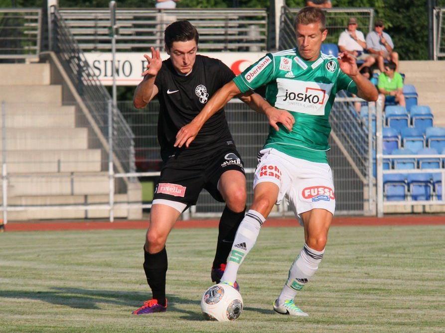Bregenz verlor gegen den Cupspezialist Ried mit 0:4, aber zeigte 45 Minuten lang eine gute Partie.
