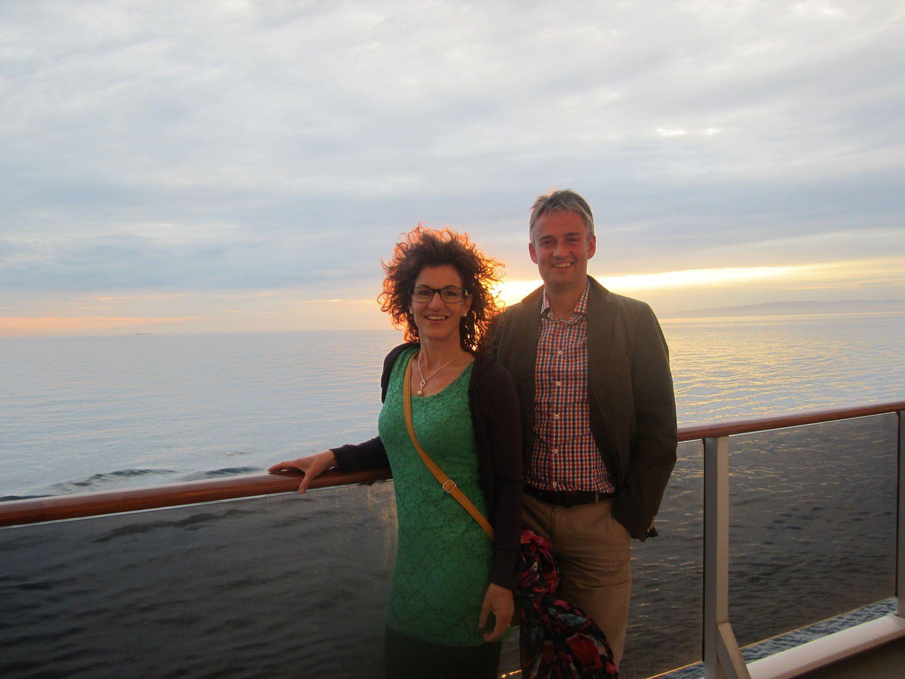 Elke und Ewald Österle auf der Mittelmeerkreuzfahrt