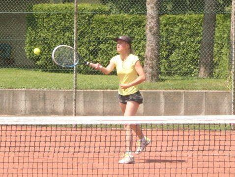 Andrea Graninger siegte im Doppel.