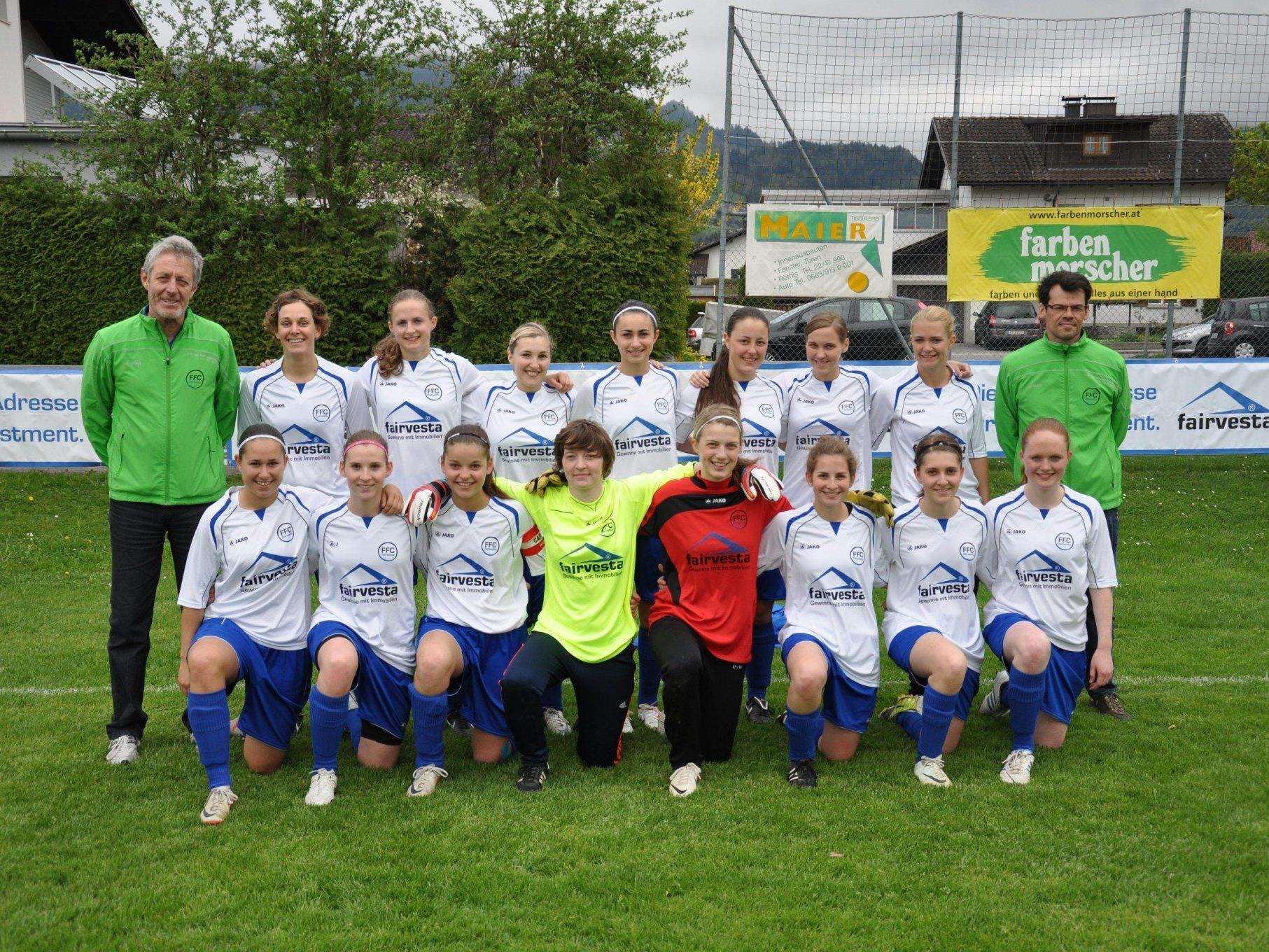 Aufsteiger in die Frauen 2. Liga Mitte/West - die Kampfmannschaft des FFC fairvesta Vorderland