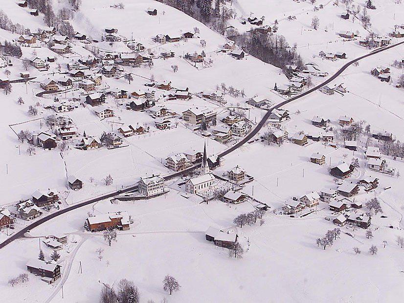 Eine Luftaufnahme von Laterns aus dem Jahr 1998.