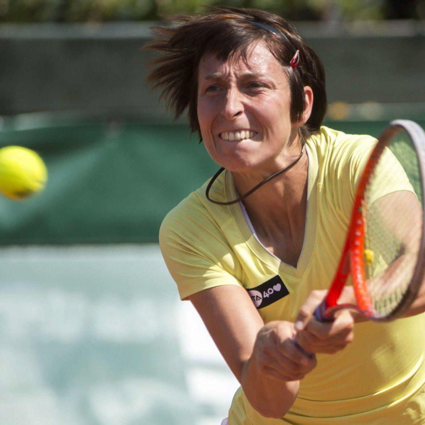 Nach Abwehr von drei Matchbällen erkämpfte sich Yvonne Meusburger den dritten Satz.
