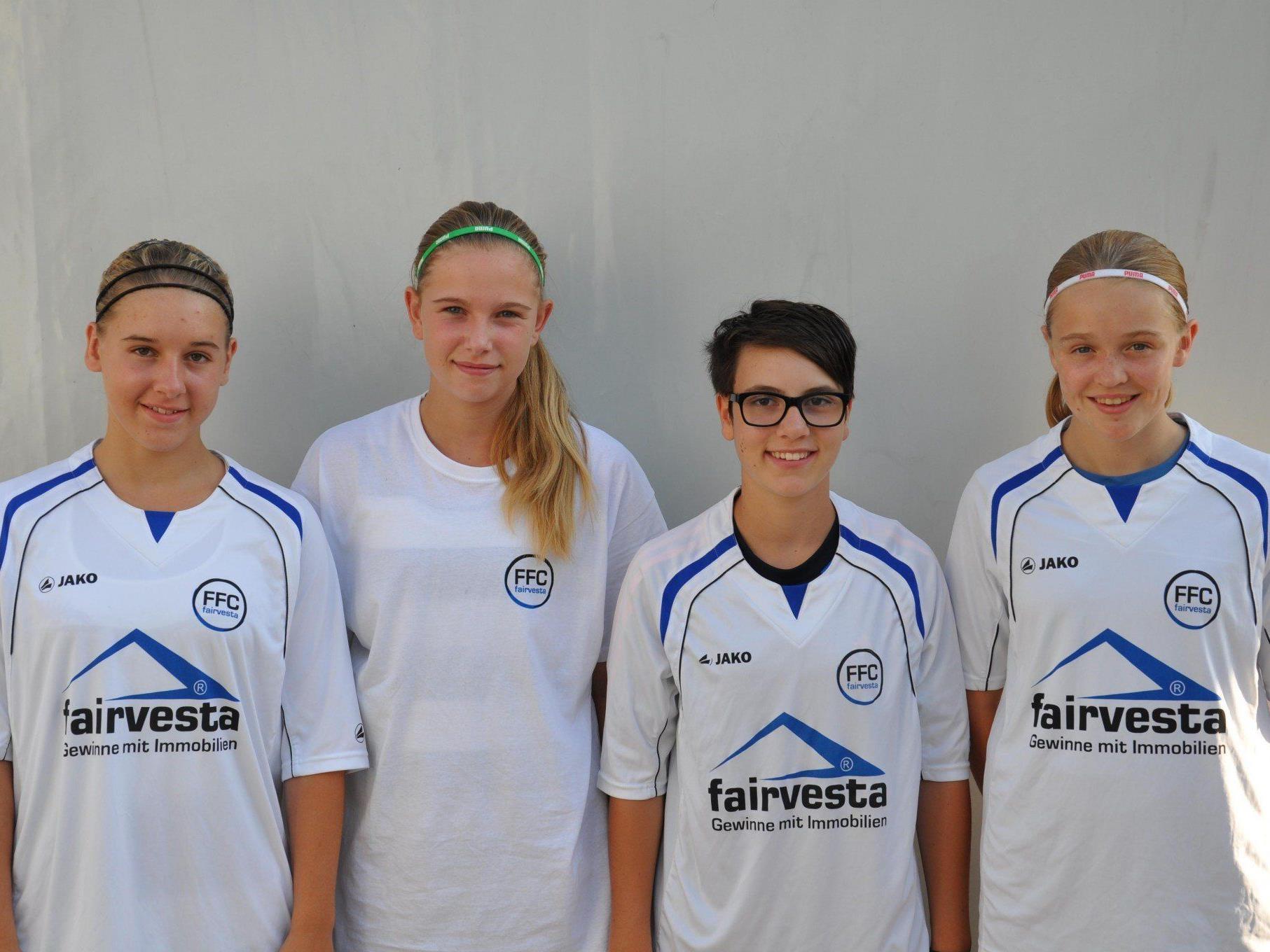 Sandra Malin, Melanie Pomberger, Lena Scheiber und Jacqueline Vonbrühl- hoffnungsvolle Nachwuchsspielerinnen aus Vorarlberg