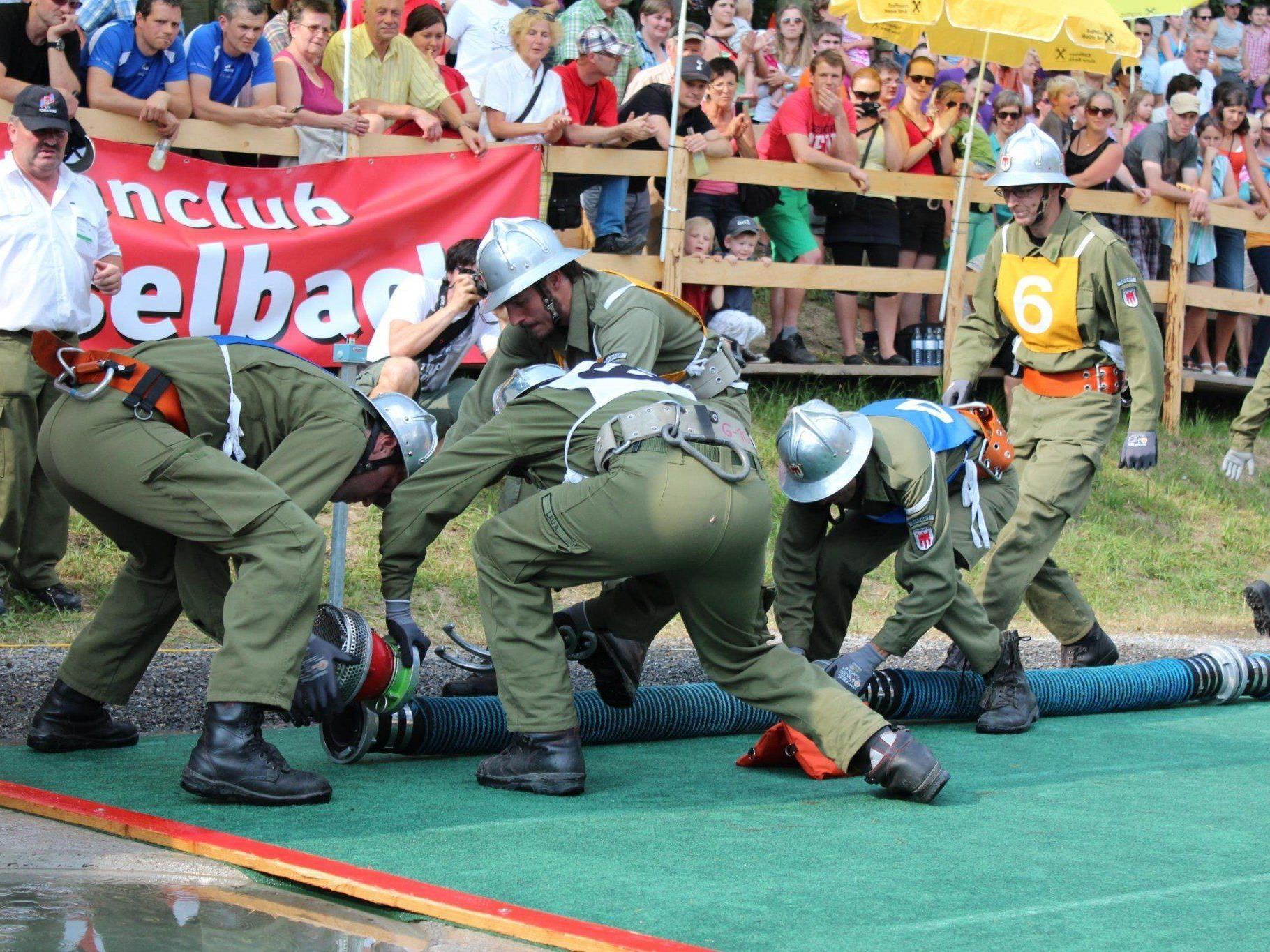 Die Feuerwehr aus Müselbach verpasste knapp den Sieg.