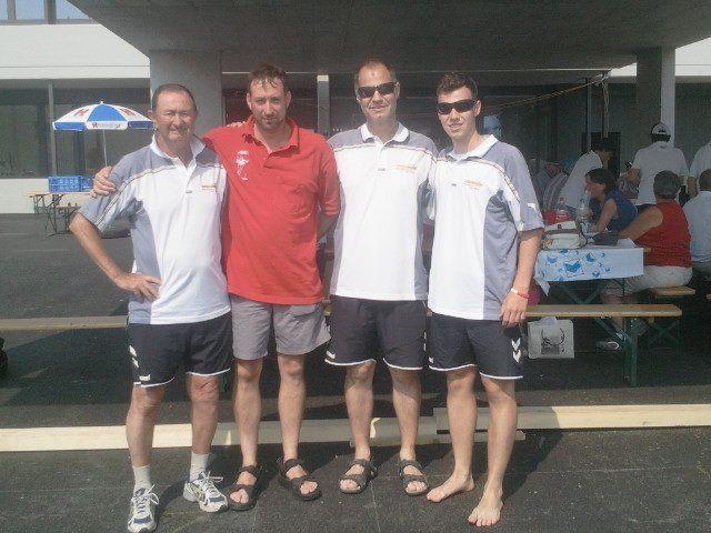 Das siegreiche Team v.l.n.r.: Erich Pienz, Marcel Bühler, Christoph Sohm, Abi Sohm