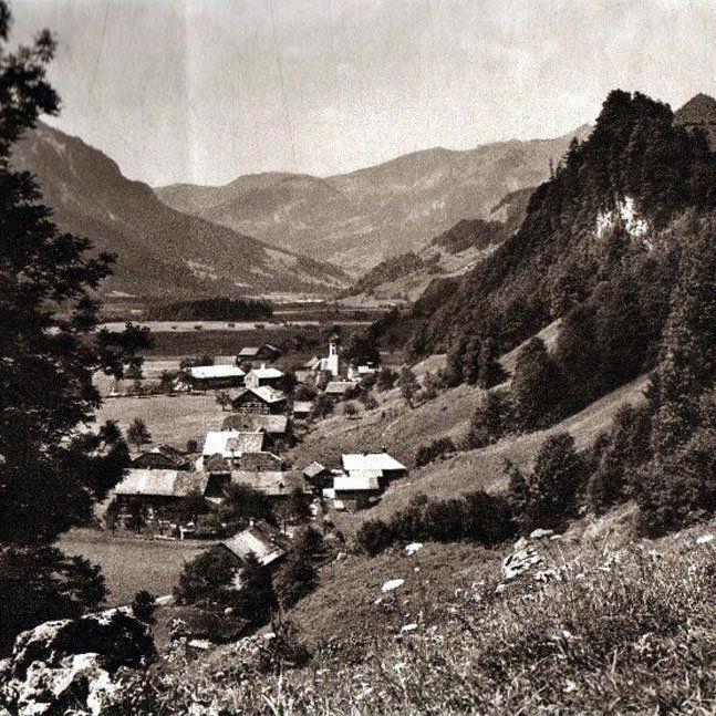 Schnepfau um 1920. (Eingesendet von Kurt Vergut)