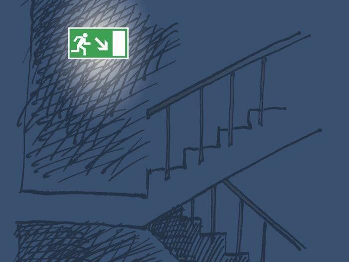 Urlaubsdomiziel: Notausgänge kontrollieren, Fluchtwege bewußt prüfen.