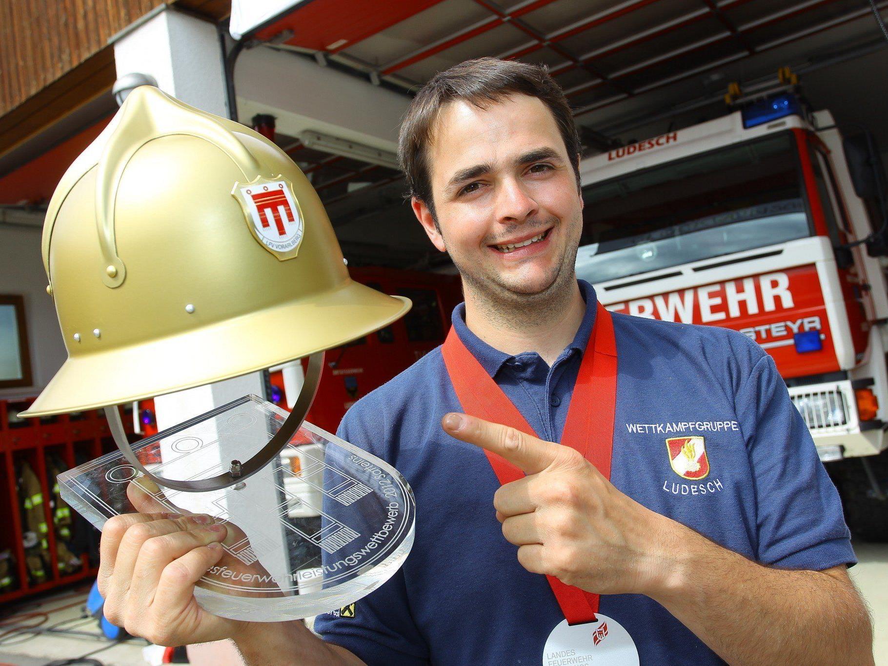Feuerwehrmann Martin Schanung: Schanung ist Vizekommandant der Ludescher Wehr die letztes Jahr den Goldenen Helm gewinnen konnte