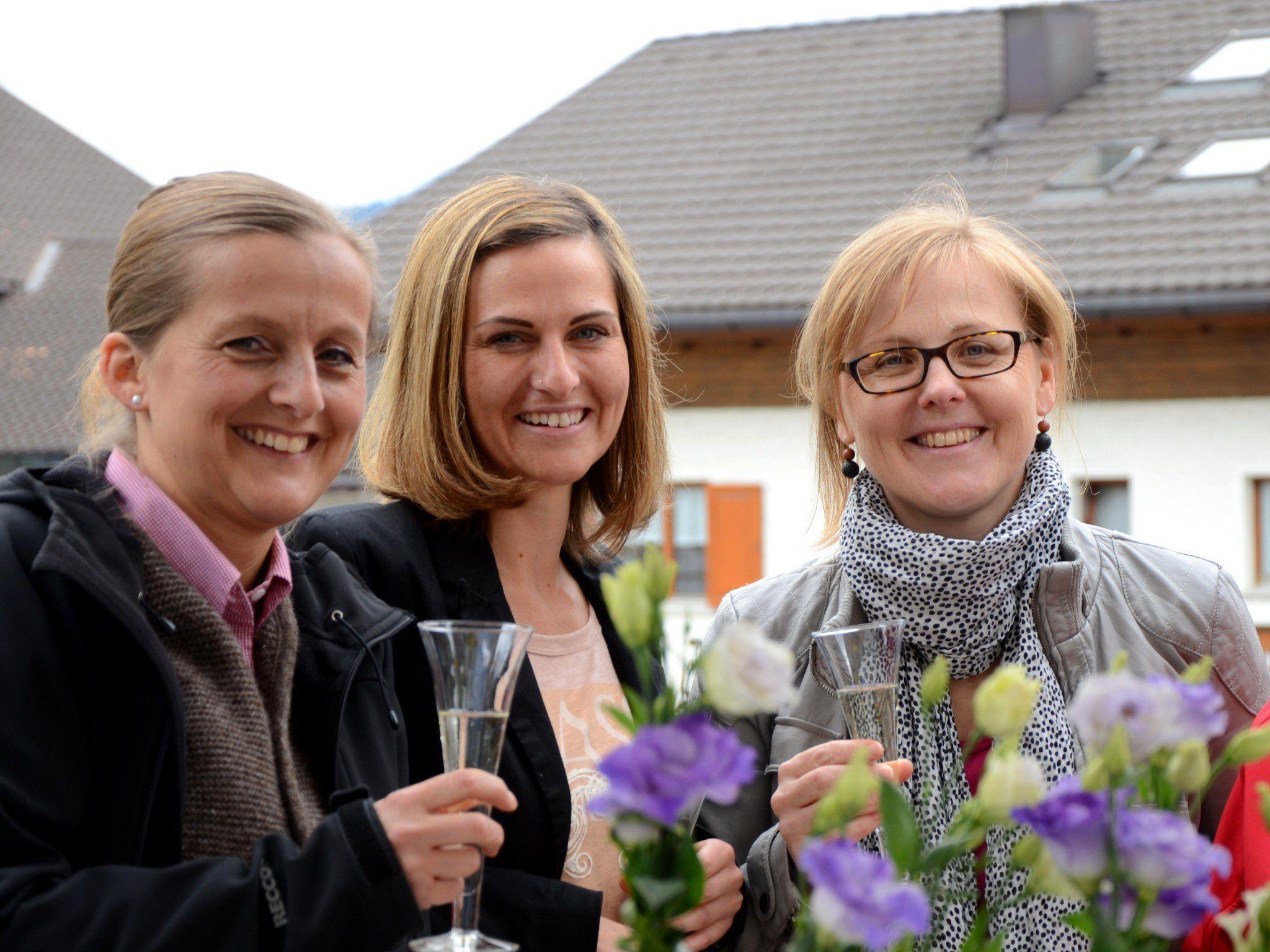 Sigrid, Marita und Silvia freuen sich auf das Genusserlebnis
