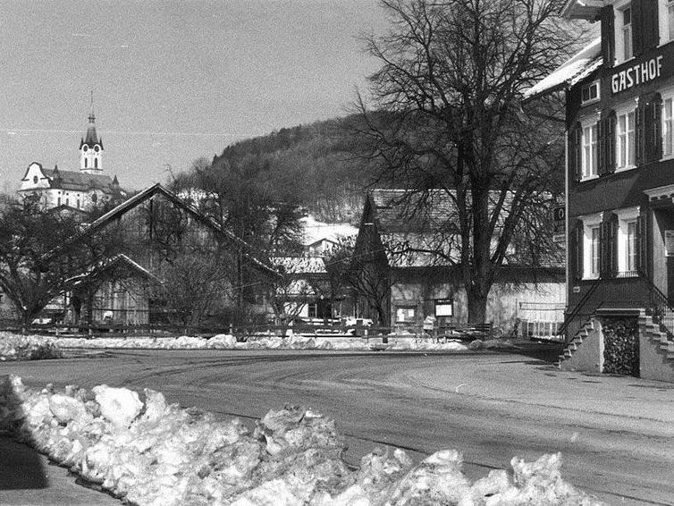 Damals: Gasthof Harmonie in Koblach.