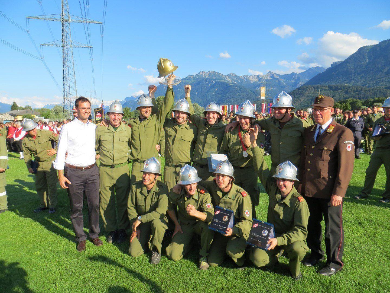 Symbolbild – Bewerbsgruppe Ludesch im Jahr 2012 in Satteins Sieger des Goldenen Helms