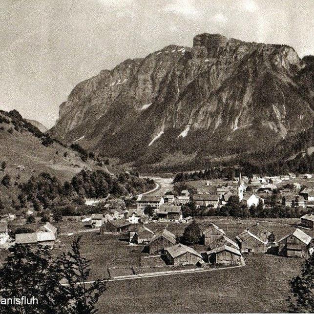 Mellau mit Kanisfluh um 1920. (Eingesendet von Kurt Vergut)