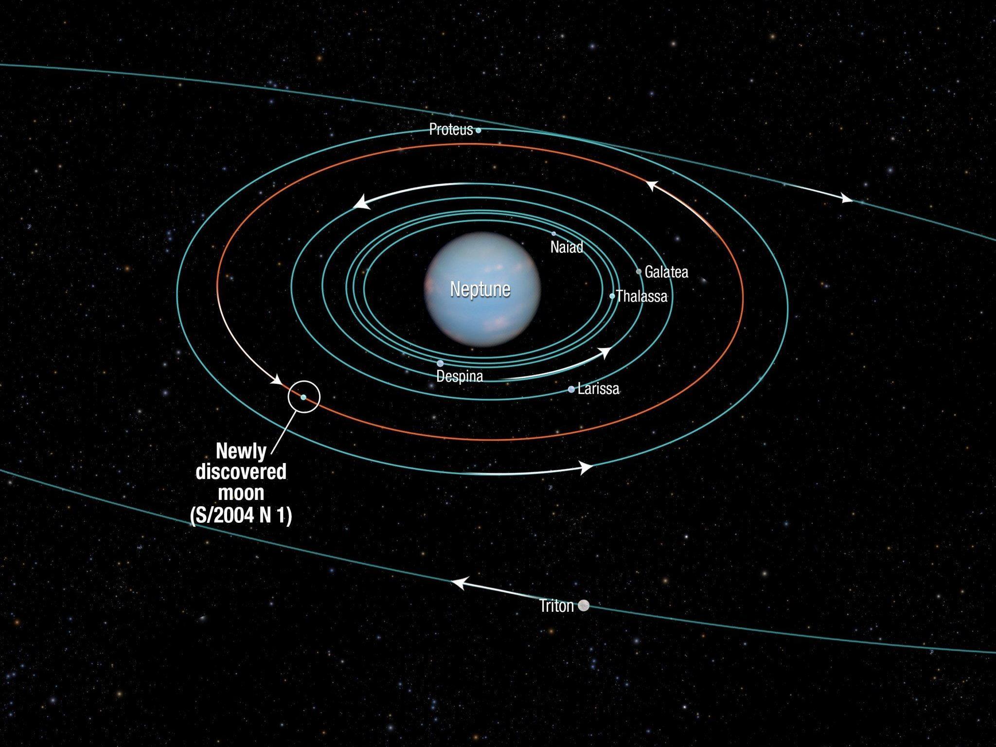 NASA: 14. Neptun-Mond hat rund 19 Kilometer Durchmesser.