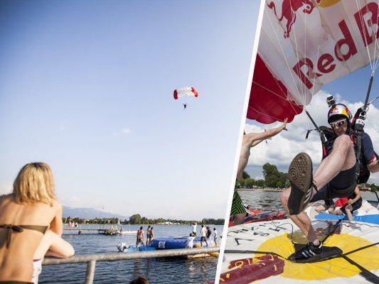 Die Red Bull Lake Jump Challenge fühte die Jumper auch nach Vorarlberg.
