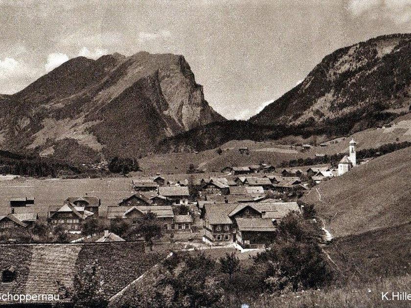 Schoppernau um 1920. (Eingesendet von Kurt Vergut)