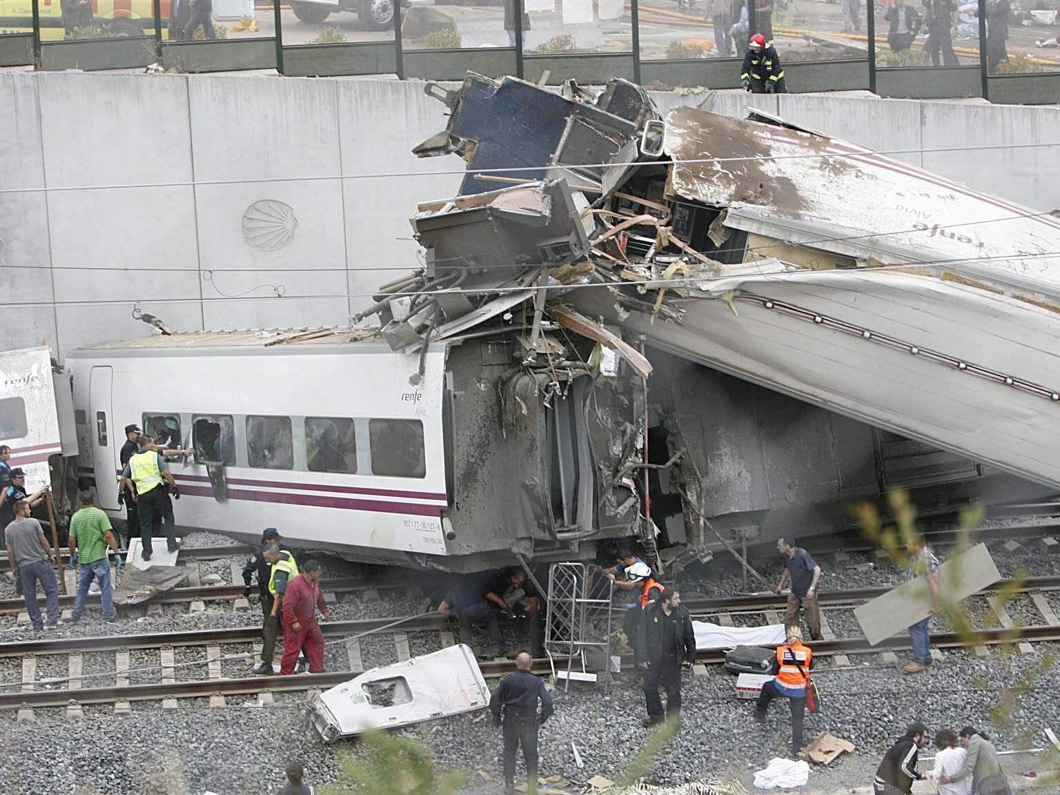 Zugsunglück in Spanien fordert Tote.