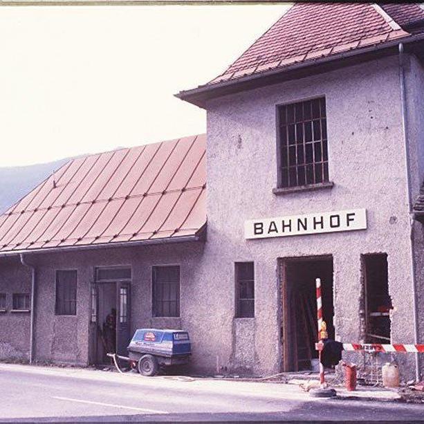 Bahnhof St. Anton im Oktober 1996. (Foto: Hronek)