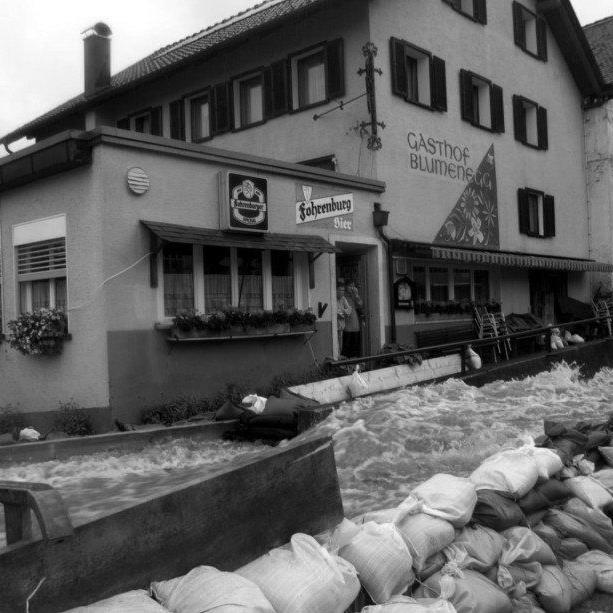 Hochwasser in Thüringen 1999.