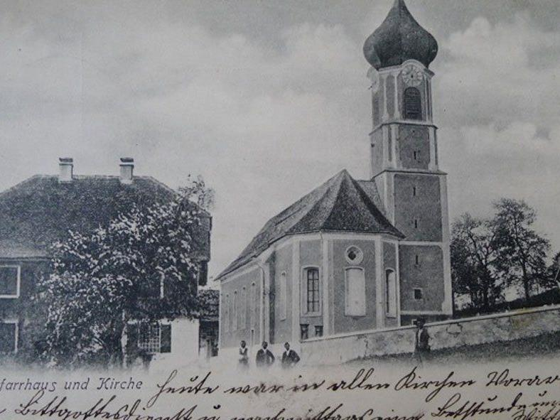 Pfarrhaus und Kirche Thüringerberg, eingesendet von Peter Hehle.