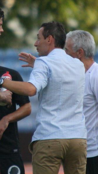 Bregenz-Trainer Mladen Posavec konnte 45 Minuten lang mit seiner Mannschaft zufrieden sein.