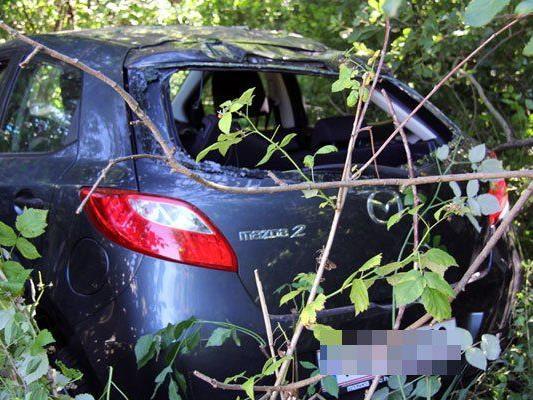 Unfall auf der A14 nach Frastanz, zwei Personen wurden leicht verletzt.