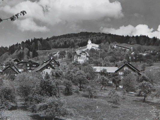 Die Kleingemeinde Viktorsberg im Jahr 1957.