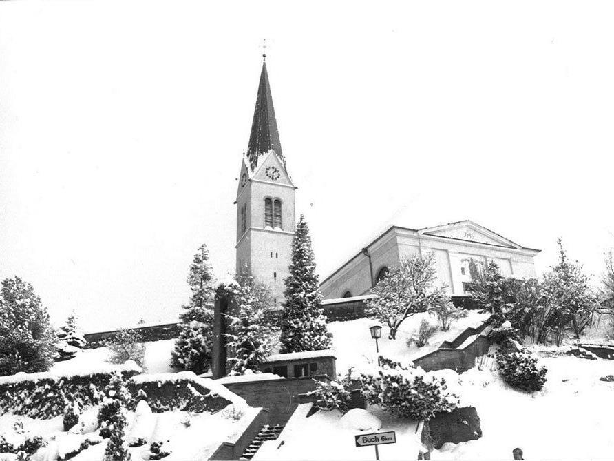 Wolfurter Kirche damals.