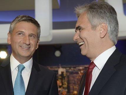 Spindelegger und Faymann haben gut lachen: Bei der NR-Wahl 2008 mussten ihre Parteien in keinem Bundesland null Prozent verzeichnen.