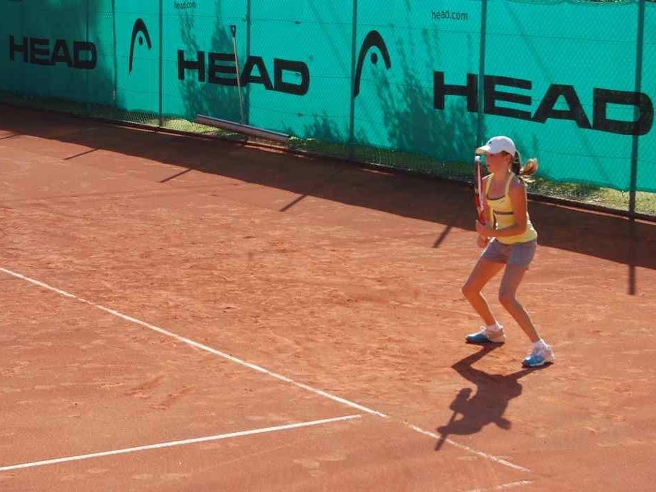 Kampfgeist besitzen alle Turnier- Tennisspieler