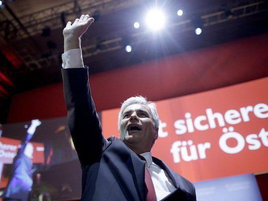 Bundeskanzler Werner Faymann beim Event im MQ