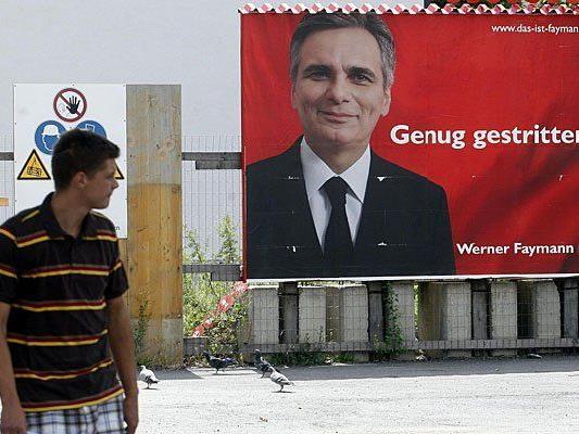Werner Faymann kommt bei den Wählern offenbar gut an