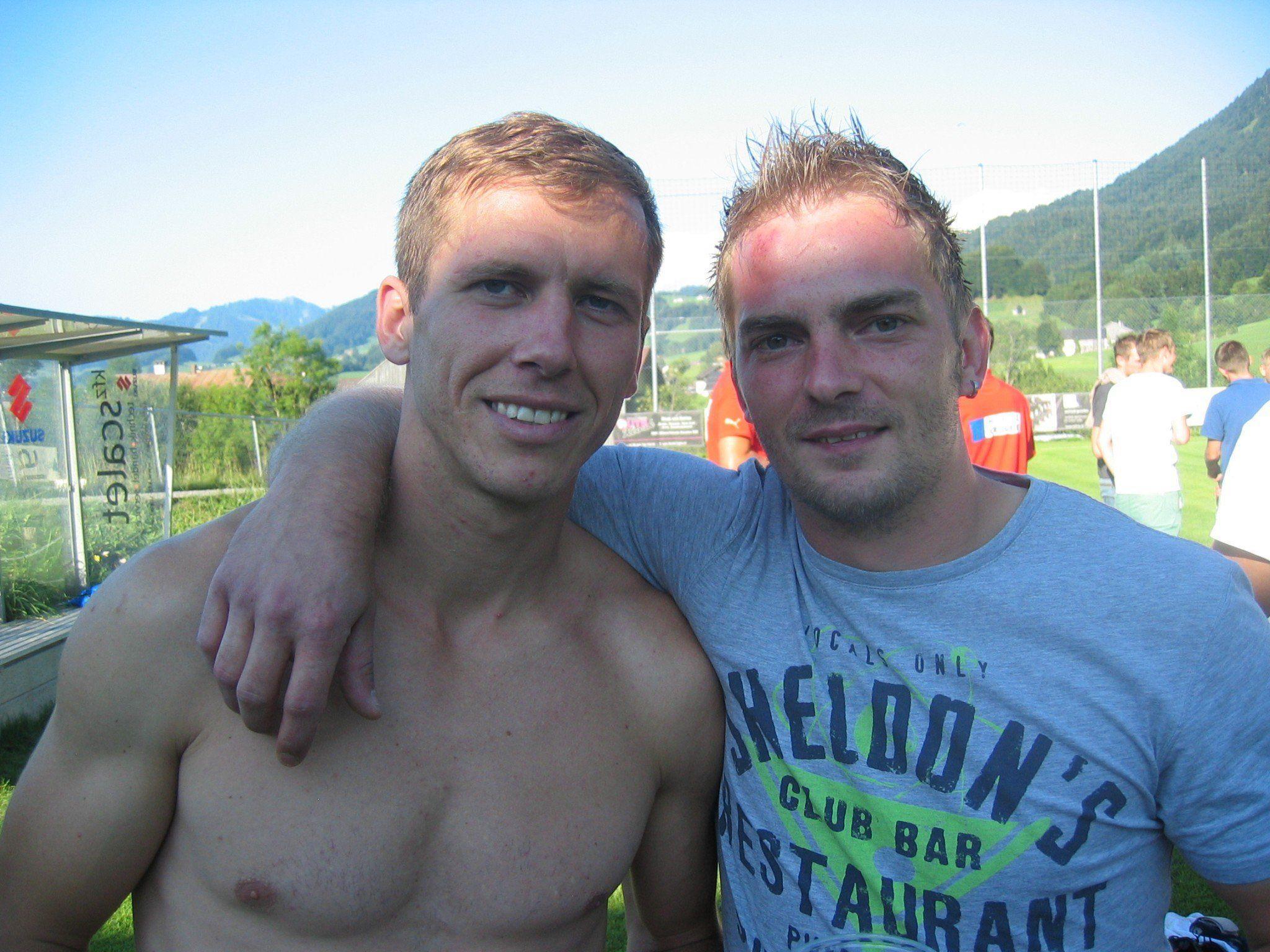Philipp Hagspiel und Christian Schneider freuten sich über die Erfolge ihrer Teams.