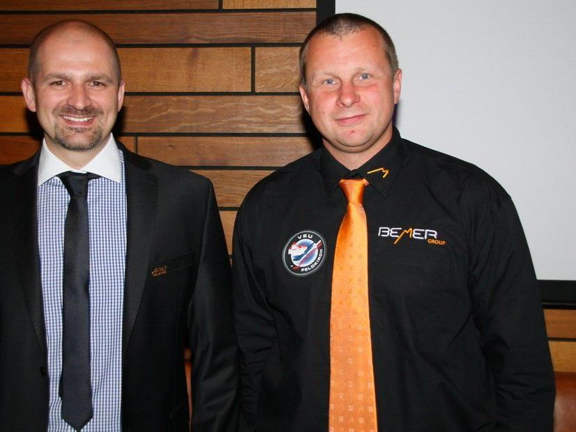 VEU-Geschäftsführer Michael Lampert und Neocoach Milos Holan stecken derzeit in der Kaderplanung.