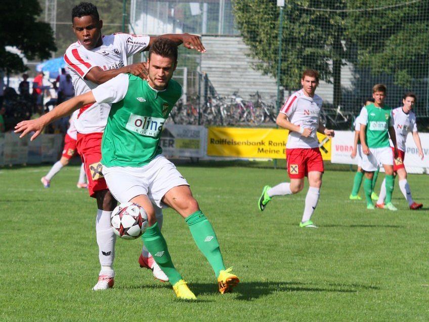 Austria Lustenau Amateure trifft am Mittwoch abend im Reichshofstadion auf Bizau.