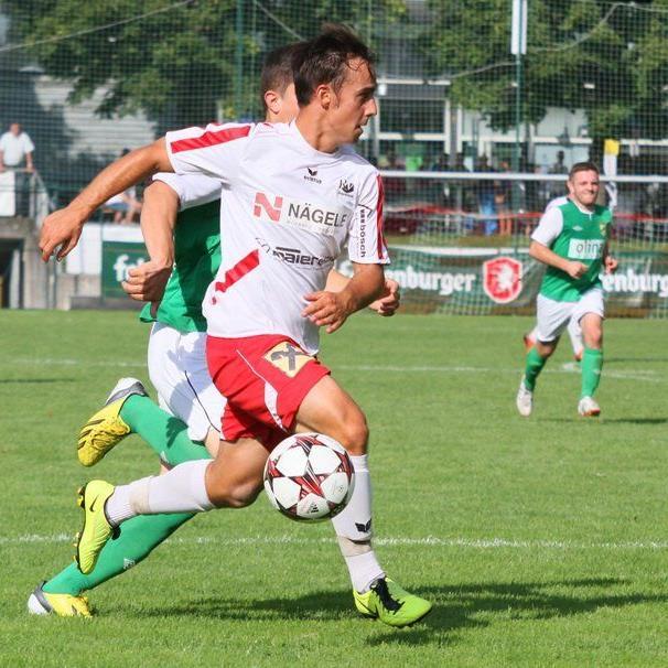 Rankweil-Mittelfeldspieler Tobias Winter kann gegen Egg verletzungsbedingt nicht spielen.